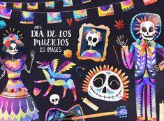 Decorative Gourds, Halloween Clipart, Halloween Ideas, Day Of The Dead Skull, Elementary Art, Digital Stamps, Drawing, Fall Pumpkins, Original Art