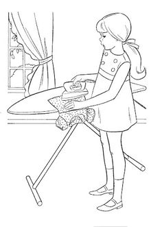 Coloring Book~Timey Tell - Bonnie Jones - Picasa Web Albums Free Kids Coloring Pages, Barbie Coloring Pages, Coloring Book Pages, Coloring Pages For Kids, Vintage Coloring Books, Human Drawing, Drawing Projects, Painted Books, Hand Embroidery Patterns