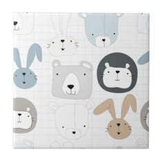 Cute cartoon teddy bear toddler and rabbit bunny cloth napkin - toddler youngster infant child kid gift idea design diy Bear Character, Character Design, Bunny And Bear, Teddy Bear, Rabbit Crafts, Bunny Drawing, Cute Cartoon Animals, Comic Styles, Cute Illustration