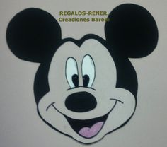 Mickey Mouse en goma eva, aplique de pared.  Foami: Mickey Mouse wall decoration.