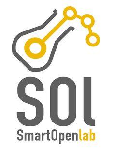 Segunda propuesta de logotipo para el openlab SOL, que es un laboratorio/taller para proyectos de electrónica e informática ubicado en la Escuela Politécnica de Cáceres y respaldado por la Universidad de Extremadura.
