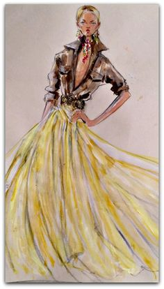Fashion Illustrations | Ralph Lauren My women's collection for Spring 2015