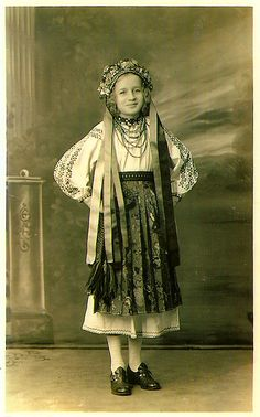 """""""I thought this was lost, but my mom found it. My grandmom Eleanor in her Ukrainian dancing costume. Probably around age 14-16"""" - Via Susie Cumming, what an amazing find!"""