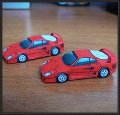This paper car is a mini Ferrari a mid-engine, rear-wheel drive, two-door coupé sports car produced by Ferrari, the paper model is created by Atlantic Paper Model Car, Paper Car, Paper Models, Cardboard Toys, Paper Toys, Paper Crafts, Race Car Themes, Race Cars, Paper Magic