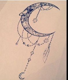 Image result for dessin attrape reve etoile lune