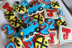 train cookies for an amazing train party