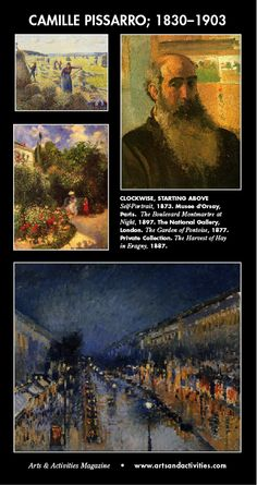 On this day, July 10, in 1830, French Impressionist and Neo-Impressionist painter, Camille Pissarro, was born on the island of St Thomas. His importance resides in his contributions to both Impressionism and Post-Impressionism.