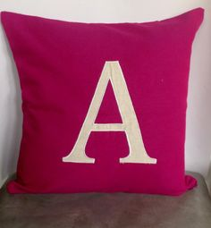 Fuchsia Monogram throw pillow covers Personalized by Snazzyliving