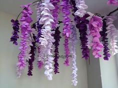 Tissue paper wisteria display