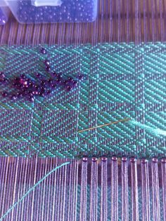 Hemstitching with beads (Little Garth Lochmaben)
