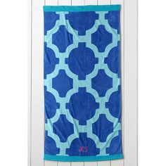 Lands' End Tile Beach Towel ($34) ❤ liked on Polyvore