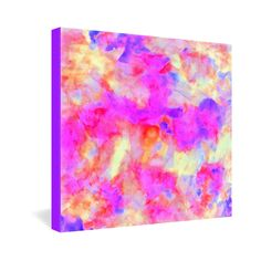Amy Sia Electrify Pink Gallery Wrapped Canvas