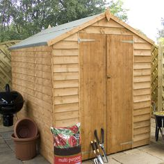 Found it at Wayfair.co.uk - 8 x 6 Overlap Apex Shed