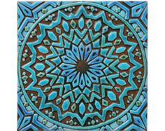 Marokkaanse muur opknoping gemaakt van keramiek - buitenmuur art - Marokkaanse kunst - Marokkaanse muur opknoping - handgemaakte tegel - moroc2 - turkoois