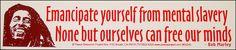 "Bob Marley ""Emancipate Yourself"" Bumper Sticker"