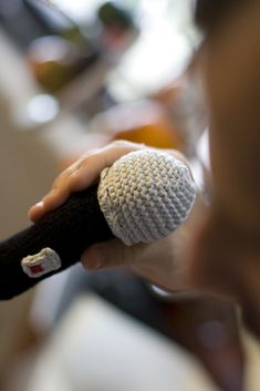 Knitted Microphone - So Cool!