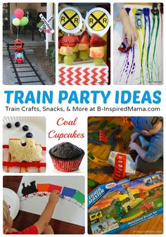 Thomas Inspired Train Crafts and Party Ideas - [#sponsored by Fisher-Price] #kids #kidsparty #kidscrafts #kbn #binspiredmama