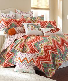 Another great find on #zulily! Red Bombay Spice Quilt Set #zulilyfinds