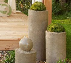 DIY concrete water feature ideas