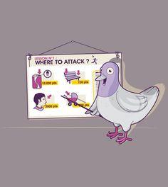 Where to attack? - tee shirt - un design laFraise original de pasquéoz.