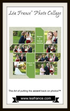 A wedding is one of the most special moments in our lives, and the pictures always make us relive those memories. Just like this one, admit it, it looks great in a Digital Stained Glass scrapbook template, isn't it? #LeaFrance #Scrapbooking
