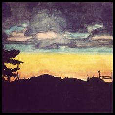Home    - watercolor