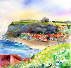 Whitby Watercolour Painting,  for more pictures visit my web site at www.sheilagill.co.uk