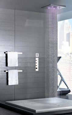 Soffione doccia per installazione ad incasso a controsoffitto - Bagni bellissimi moderni ...