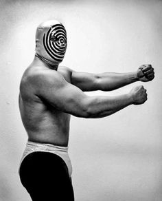 vintage luchador wrestler with a great mask lucha wrestling retro