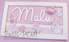 Plaquinhas rosa, bem romântica! Petit POA - Eventos & Lembrancinhas Personalizadas
