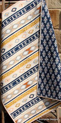 Aztec Baby Quilt Boy Tribal Modern Trendy by SunnysideDesigns2
