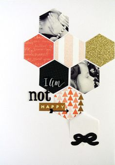 #papercrafting #scrapbooking #layout - I'm not Happy by SandrinEve at @studio_calico