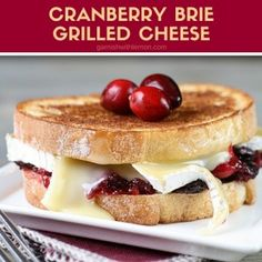 Reinvent your Thanksgiving leftovers with this simple but decadent Cranberry Brie Grilled Cheese Sandwich. ~ http://www.garnishwithlemon.com