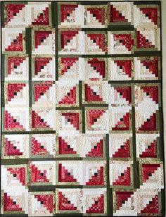 Log Cabin Quilt Pattern PDF Beginner Quilt Pattern Christmas
