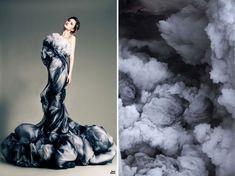 L'artiste russe Liliya Hudyakova a créé une série de photos qui met en opposition des photos de robes de haute couture avec des paysages hyper-ressem