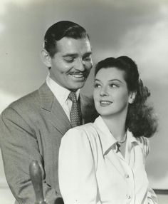 Clark Gable and Rosalind Russell