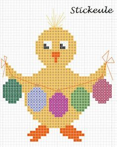 Darling Easter cross stitch