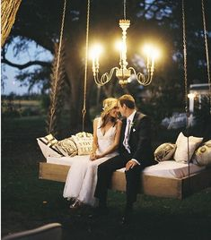 Love swing for outdoor reception
