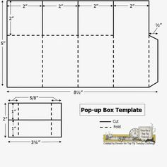 Pop up box card template