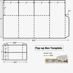 Pop up box card template