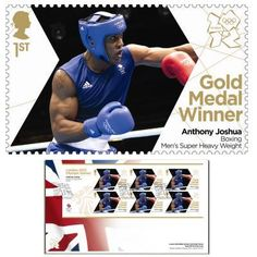 Large image of the Team GB Gold Medal Winner First Day Cover - Anthony Joshua