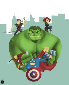 #The #Avengers #Fan#Art.  (Avengers Assemble) By: MeoMoc.