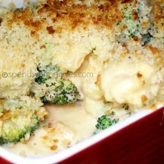 Cheesy Broccoli Cauliflower Bake (No condensed soup required)