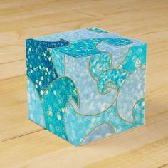 #glitter - #Blue Mermaid Faux Glitter Sea- Teal Gold Ocean Favor Box