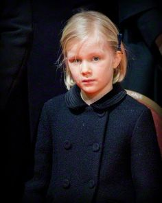Belgian Princess Eleonore attends the funeral of Belgian Queen Fabiola at the Cathedral of St. Michael and St. Gudula in Brussels, Belgium, 12.12.2014.