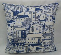 Sanderson Fabric ~ St. Ives ~ Cushion Cover ~Indigo, Colours for Living Coll | eBay <3 Nice <3