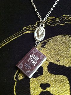 Jane Eyre Mini Book Necklace by CuriosAndCreations on Etsy