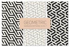 Geometric Seamless Patterns Set 7 by Curly_Pat on Creative Market