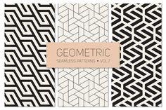 Geometric Seamless Patterns Set 7 by Curly_Pat on Creative Market