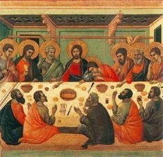 Duccio di Buoninsegna - Maestà  - Retro - Ultima cena - 1308-11 - Tempera e oro su tavola - Museo dell'Opera del Duomo, Siena